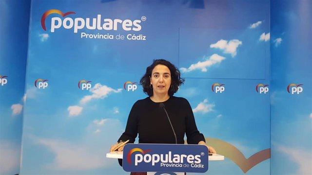 Carmen Sánchez en rueda de prensa