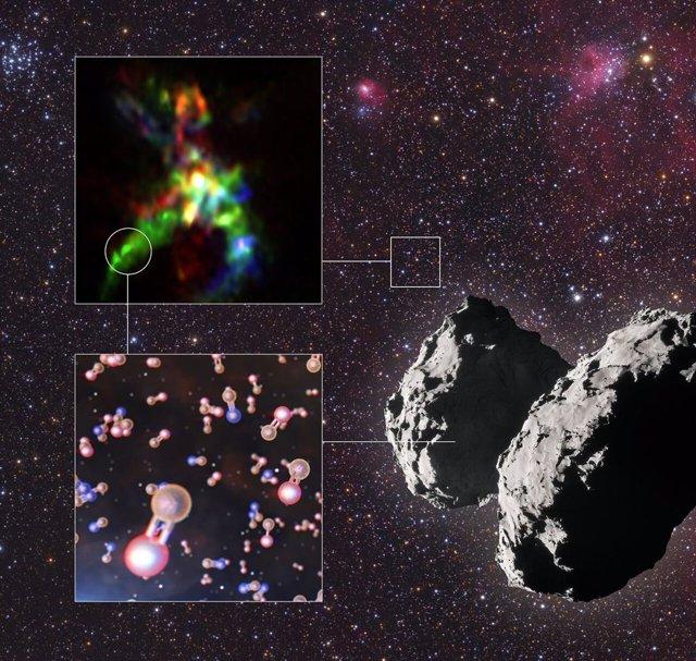 Rastrean el viaje cósmico del fósforo, elemento esencial para la vida