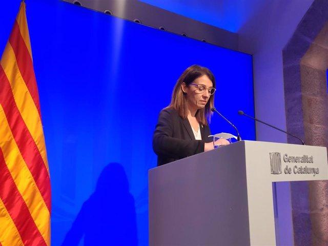 La portavoz del Govern, Meritxell Budó, informa de los acuerdos tras el Consell Executiu, el 15 de enero de 2020.