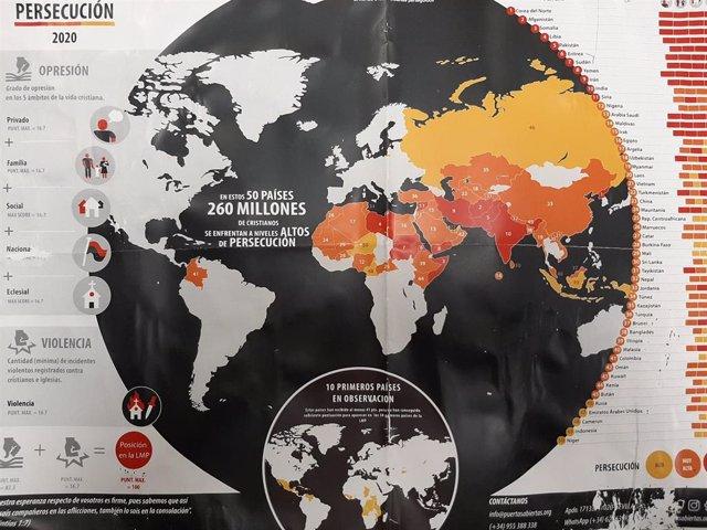 Lista mundial de la persecución de Puertas Abiertas