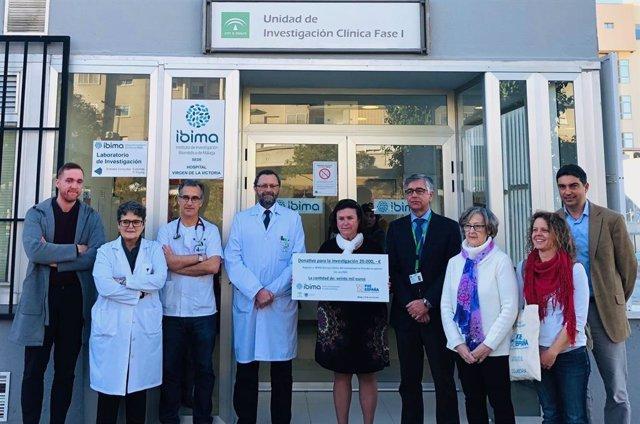 Ibima recibe una donación de la Asociación de Enfermos por Pseudoxantoma Elástico para investigar la enfermedad