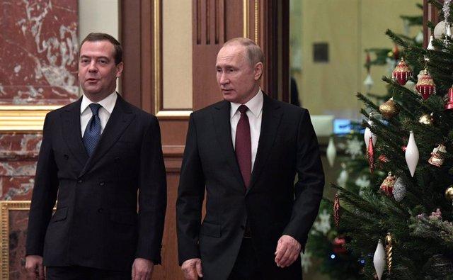 Dmitri Medvédev i Vladímir Putin