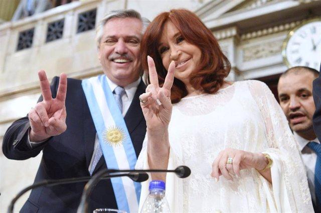 El presidente y la vicepresidenta de Argentina, Alberto Fernández y Cristina Fernández de Kirchner