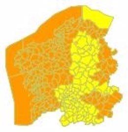 Alerta naranja el 16 de enero de 2020