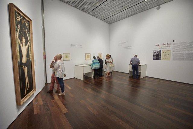 Imagen de la exposición 'Jardín desecho' del Centro Federico García Lorca