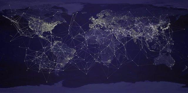 Mapa mundi conectado
