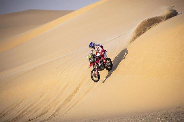 La piloto Laia Sanz (GasGas Soficat Xerox) en el Rally Dakar 2020