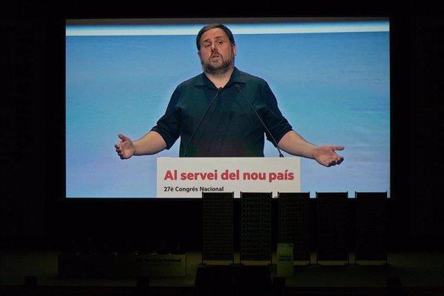 Imagen de Oriol Junqueras en el 28 Congrés Nacinal de ERC.