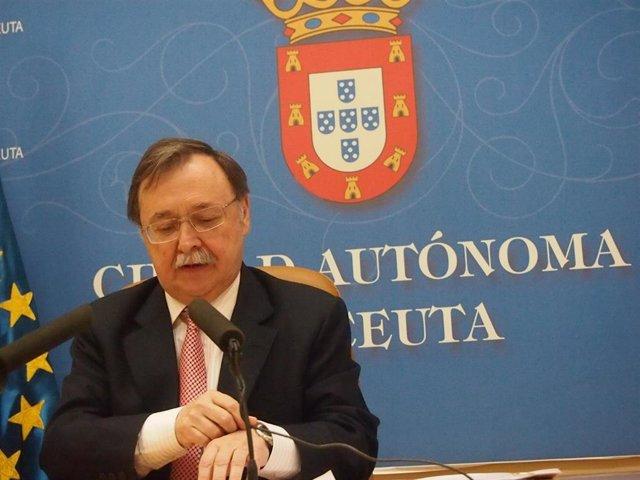 El presidente del Gobierno de Ceuta, Juan Vivas, en una foto de archivo