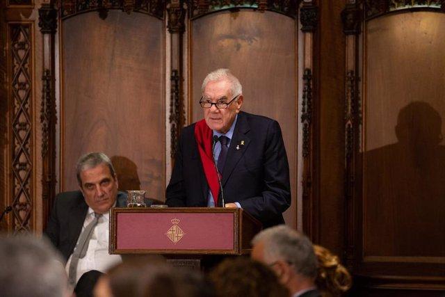 El concejal de ERC Ernest Maragall en el pleno de constitución del Ayuntamiento de Barcelona.