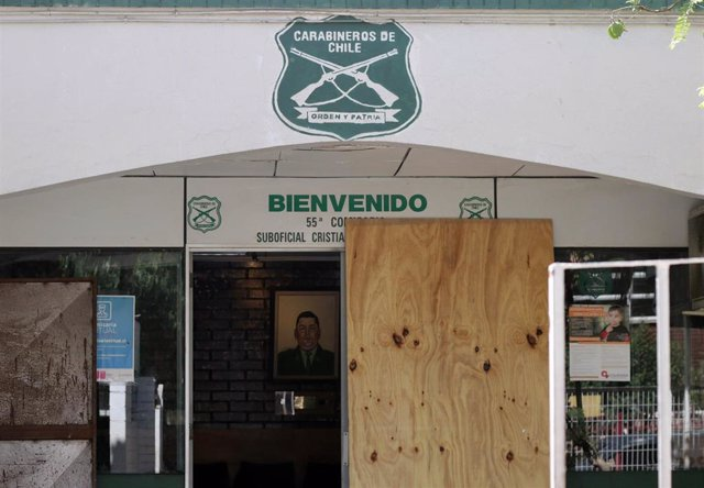 Comisaría atacada en Santiago de Chile