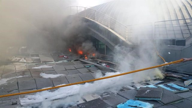 Incendio en el Aeropuerto de Alicante