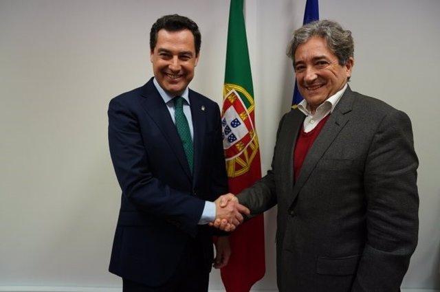 Juanma Moreno y Ricardo Serrao