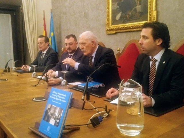 Presentación en el RIDEA del libro sobre los 40 años del Consejo Regional de Asturias.