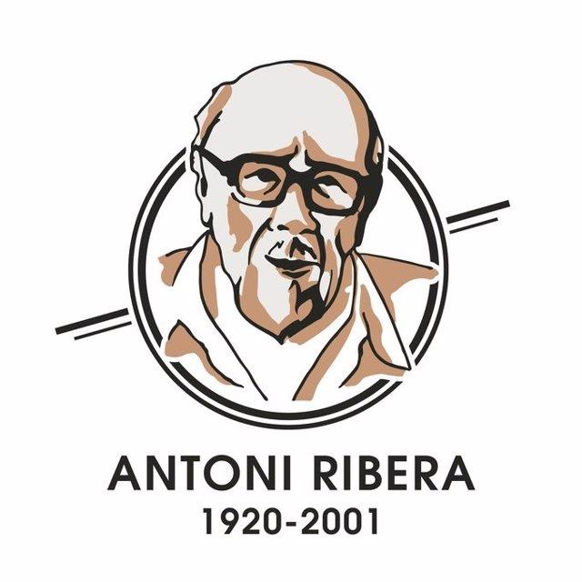 Logotipo del 'Año Ribera' dedicado al centenario del nacimiento del escritor y ufólogo Antoni Ribera (1920-2001) y organizado por el Ayuntamiento de Sant Feliu de Codines (Barcelona), donde residió los últimos 30 años de su vida