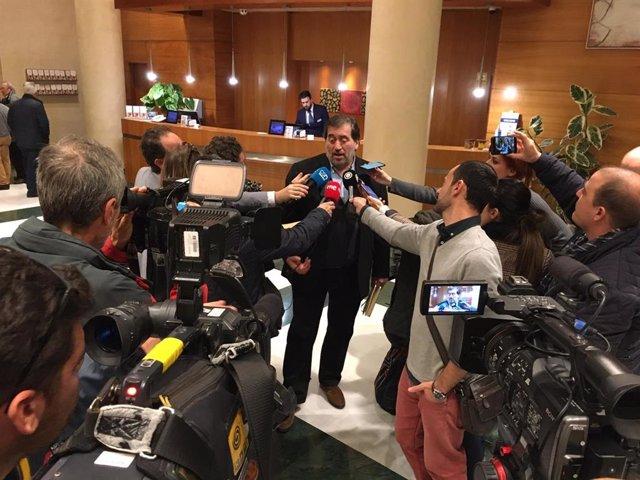 García Bofill, en declaraciones a los periodistas en Almería