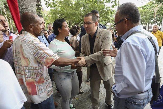 El ministro de Asuntos Exteriores de Venezuela, Jorge Arreaza.