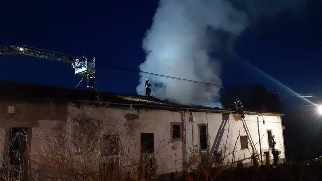 Incendio en Molledo