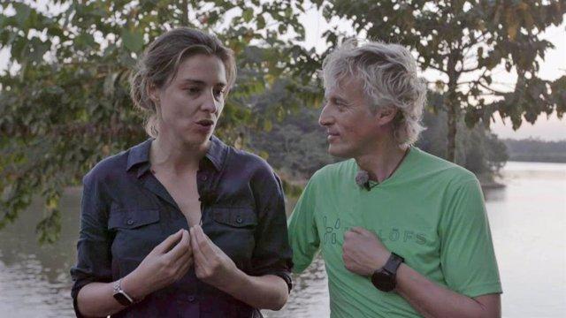 Sandra Barneda con Jesús Calleja en el programa 'Planeta Calleja'