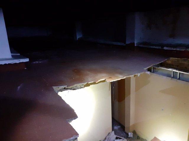 Se hunde el forjado de una vivienda en Aldaia sin causar heridos