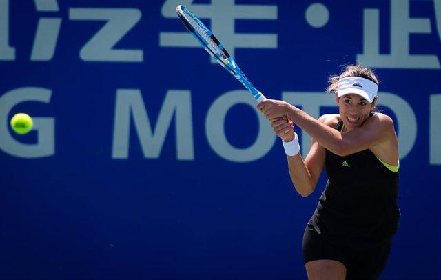 La tenista hispano-venezolana Garbiñe Muguruza durante un torneo