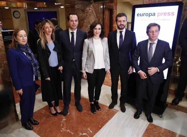 Desayuno informativo de Europa Press con la presidenta y el vicepresidente de la