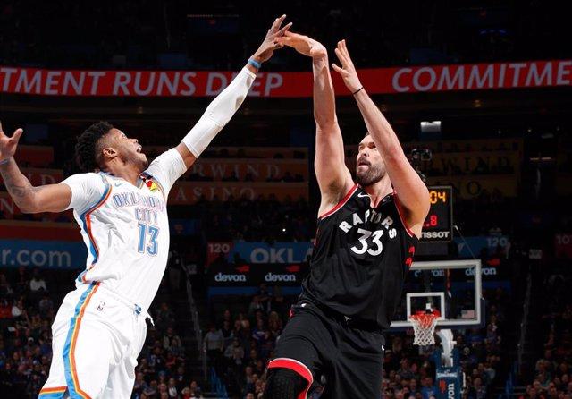 Marc Gasol en el Raptors - Thunder