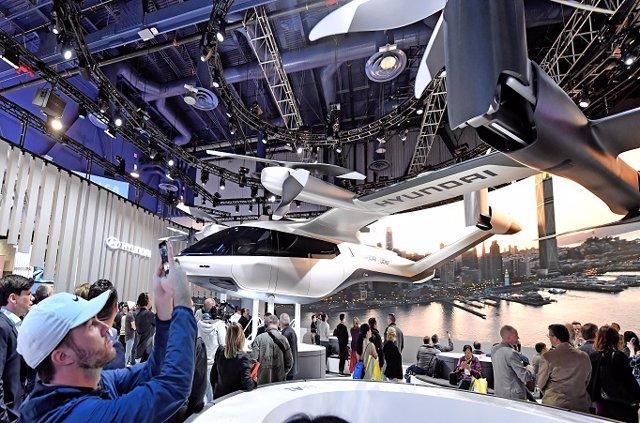 Hyundai presenta tres soluciones de movilidad del futuro en la exposición CES 2020 celebrada en Las Vegas (Estados Unidos).