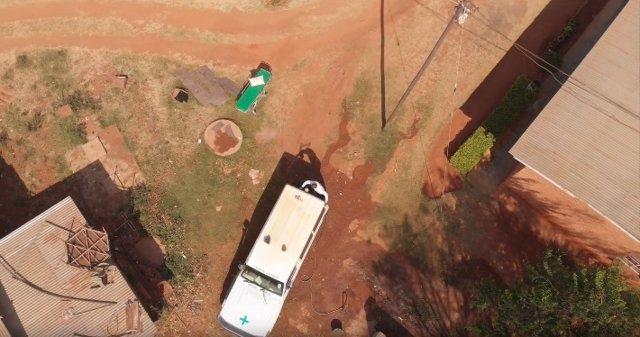 Ambulancia en el hospital de Mthengo Wa-Nthenga en Malawi