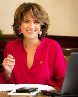 Dolores Delgado, al acreditarse como diputada