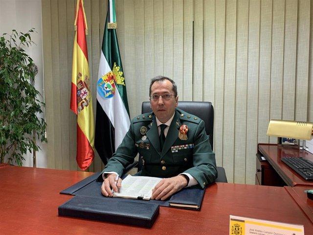 Jefe de la Comandancia de la Guardia Civil de Cáceres, José Andrés Campón