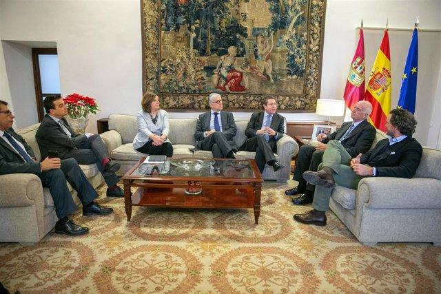Reunión Gobierno C-LM con directivos de la planta de Mahou en Alovera.