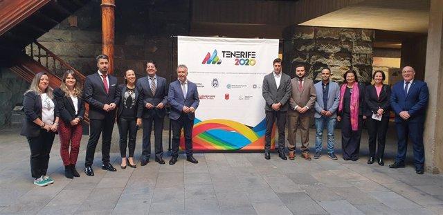 Autoridades deportivas y políticas en la presentación del Campeonato Iberoamericano de Atletismo