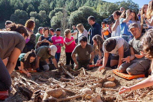 Localizados en Ollacarizqueta los restos de 16 víctimas del golpe militar de 1936