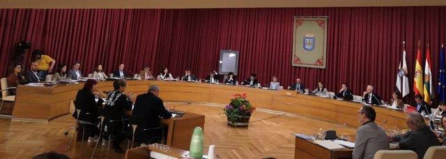 """El pleno del Ayuntamiento de Logroño ha aprobado este jueves las Ordenanzas fiscales para el ejercicio 2020, entre críticas de la oposición por """"atraco fiscal"""" y falta de negociación."""