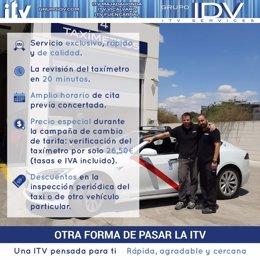 COMUNICADO: GRUPO IDV-ITV Services explica cómo saber si un taxímetro está cobra