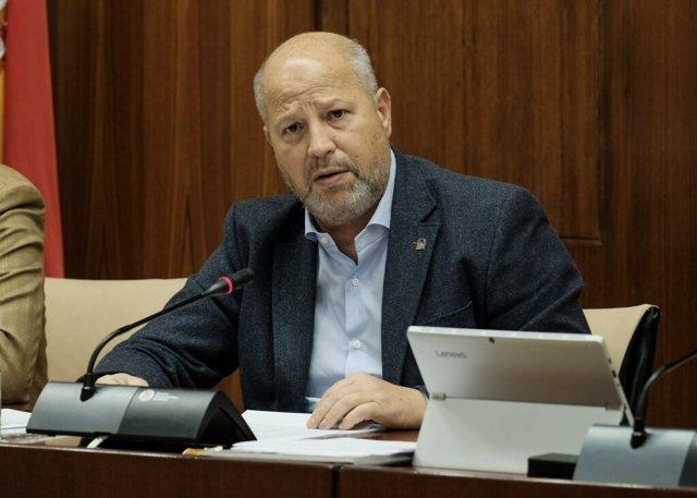 El consejero de Educación y Deporte, Javier Imbroda, comparece en comisión parlamentaria.