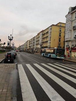 """El coordinador de Ciudadanos (Cs) en Santander, Marcos Gutiérrez, ha afirmado que el Metro TUS """"ha sido un fiasco"""" y ha opinado que """"lo lógico es eliminar el carril bus que entorpece la circulación"""""""