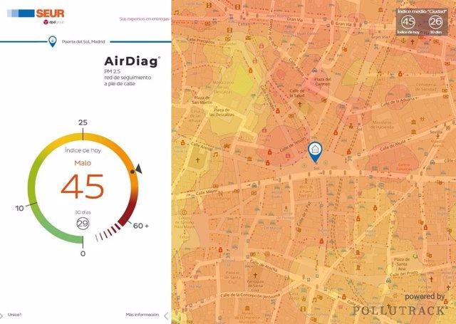 Proyecto Breathe de SEUR para medir la calidad del aire en Madrid