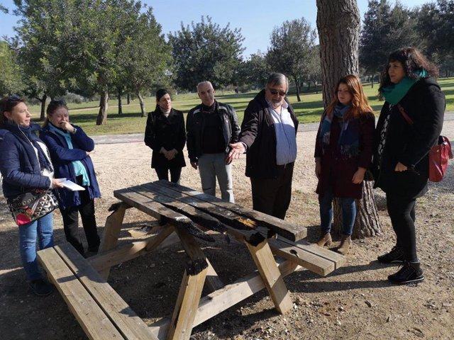 La portavoz municipal de Adelante Sevilla en el Ayuntamiento, Susana Serrano, en el Parque del Tamarguillo