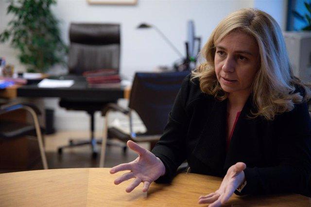 La portavoz del Gobierno municipal de Madrid y delegada del Área de Seguridad y Emergencias, Inmaculada Sanz Otero, durante una entrevista para Europa Press, en Madrid (España), a 5 de diciembre de 2019.