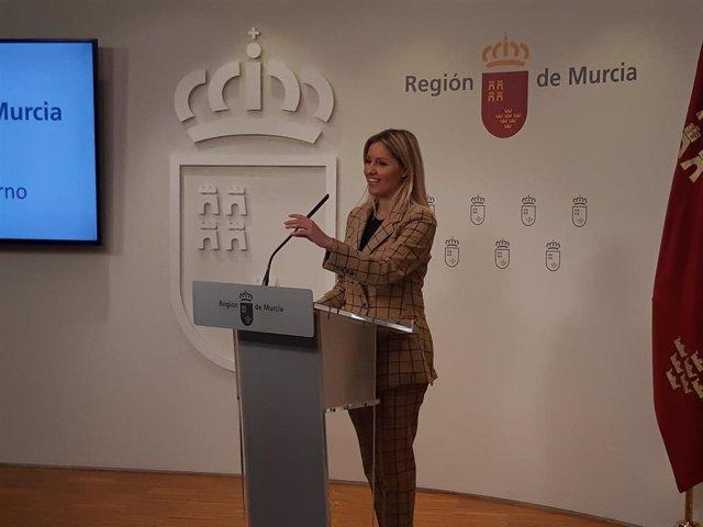 La portavoz del Gobierno regional, Ana Martínez Vidal