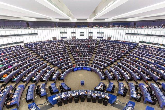 Vista general del Parlamento Europeo durante una sesión