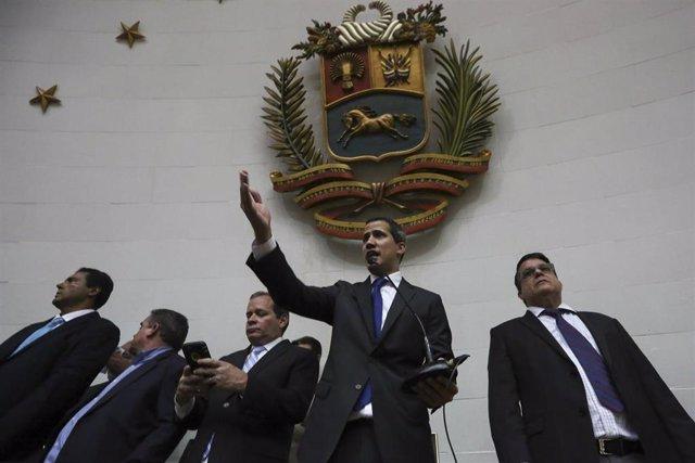 Juan Guaidó en la Asamblea Nacional