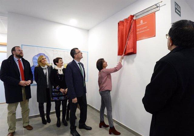 Imagen de la inauguración de la nueva escuela infantil de La Paz