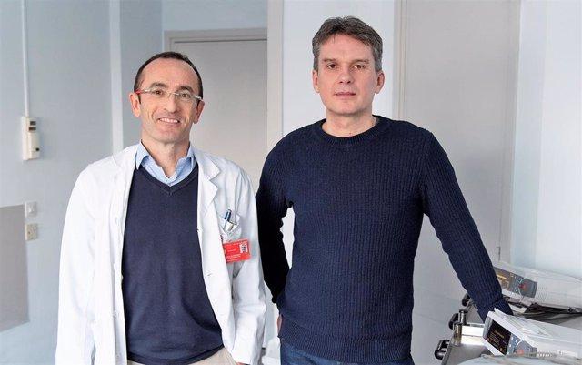 Iñaki García de Gurtubay, jefe del Servicio de Neurofisiología Clínica del Complejo Hospitalario de Navarra; y el ingeniero biomédico navarro, Iñaki Larraya