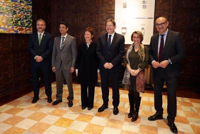 Puig con los rectores de las universidades públicas valencianas