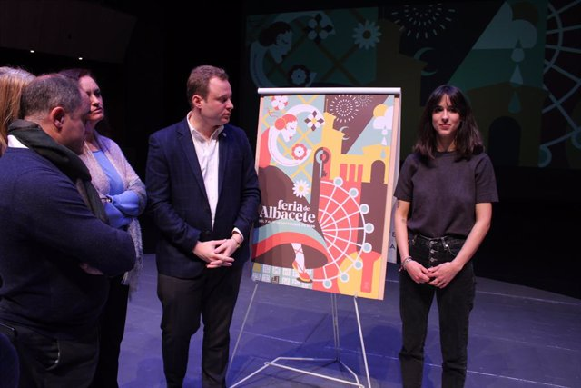 'Flores a nuestra feria' de Celia Navalón, cartel de la Feria 2020 de Albacete e