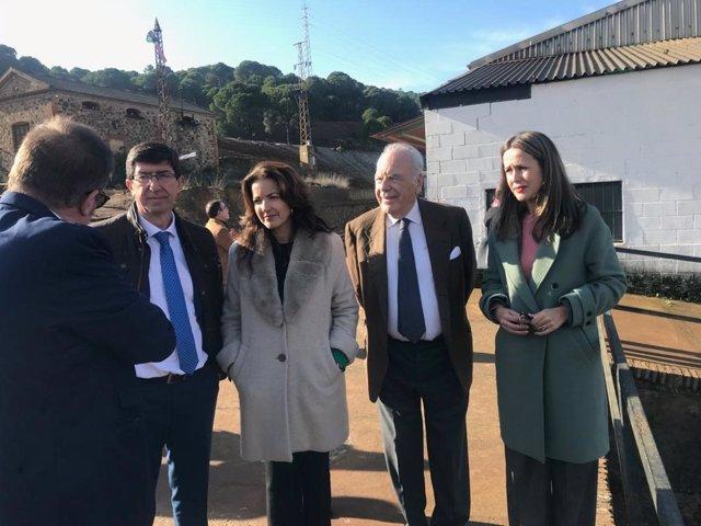 Juan Marín visita el Museo Minero en Minas de Riotinto.