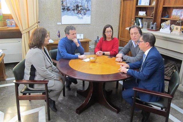 Reunión sobre el Parador en Alcaldía del Ayuntamiento de Jaén
